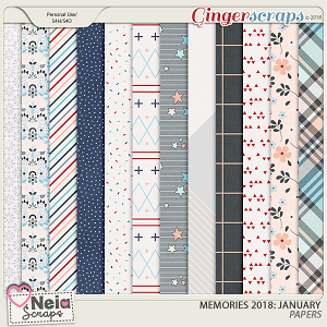 Memories 2018 - January - Papers By Neia Scraps