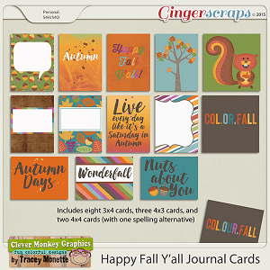 Happy Fall Y'all Journal Cards by Clever Monkey Graphics