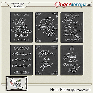 He is Risen {journal cards}