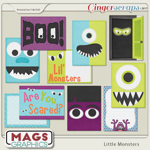 Little Monsters JOURNAL CARDS by MagsGraphics