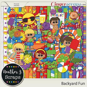 Backyard Fun KIT by Heather Z Scraps