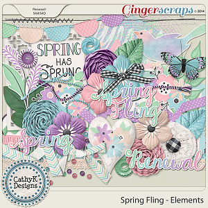 Spring Fling Elements: by CathyK Designs