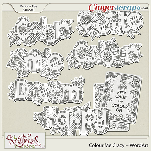 Colour Me Crazy WordArt