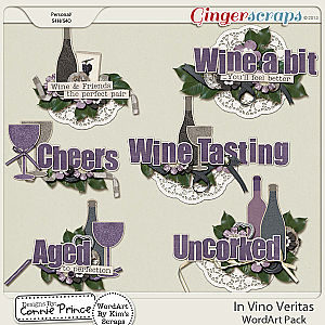 In Vino Veritas - WordArt
