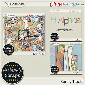 Bunny Tracks BUNDLE by Heather Z Scraps