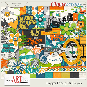 Happy Thoughts Page Kit
