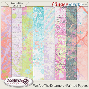 We Are The Dreamers - Painted Papers by Aprilisa Designs