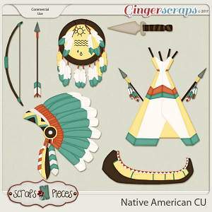 Native American CU set 1 - Scraps N Pieces