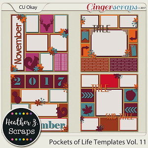 Pockets of Life Templates Vol. 11 by Heather Z Scraps
