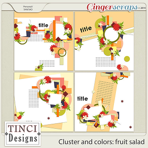 Cluster and colors: fruit salad