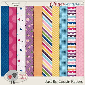 Just Be-Cousin Papers by Luv Ewe Designs