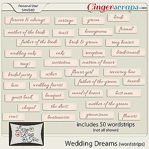 Wedding Dreams {wordstrips}