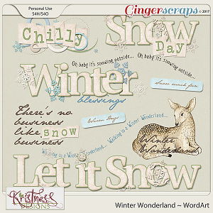 Winter Wonderland WordArt