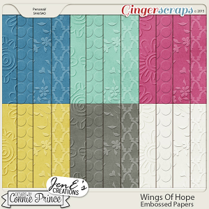 Wings Of Hope - Embossed Papers