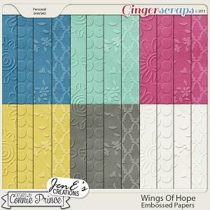 Wings Of Hope - Embossed Papers