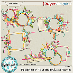 Happiness In Your Smile Cluster Frames