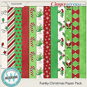 Funky Christmas Paper Pack