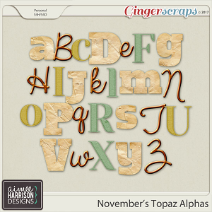 November's Topaz Alpha Sets by Aimee Harrison