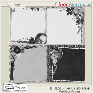 {HUES} Silver Celebration - PreDeco Papers