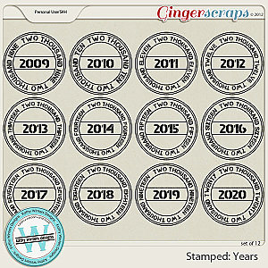 Stamped: Years by Kathy Winters Designs