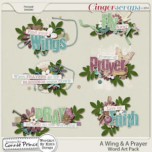 A Wing & A Prayer - WordArt