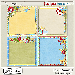 Life Is Beautiful - PreDeco Papers: by Connie Prince