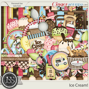 Ice Cream Digital Scrapbook Kit