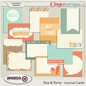 Rise And Shine - Journal Cards