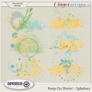 Keep On Shinin' Splatters by Aprilisa Designs