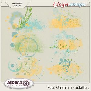 Keep On Shinin' Splatters by Aprilisa Designs
