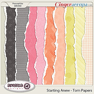 Starting Anew - Torn Papers