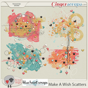 Make  A Wish Scatters by Luv Ewe Designs and Blue Heart Scraps