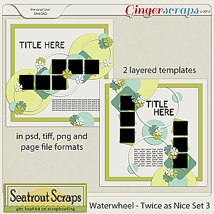 Waterwheel - Twice as Nice Collection by Seatrout Scraps