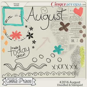 #2016 August - Doodles & Stamps
