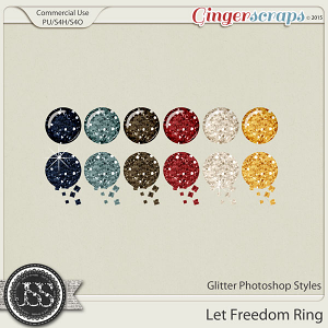 Let Freedom Ring CU Glitter Photoshop Styles