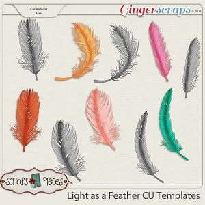 Light as a Feather CU Layered Templates - Scraps N Pieces