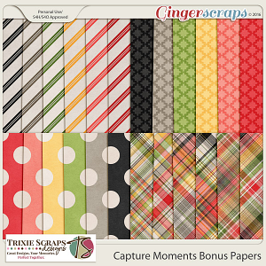 Capture Moments Bonus Papers by Trixie Scraps Designs