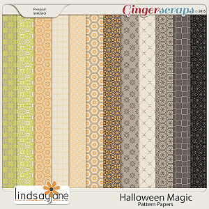 Halloween Magic Pattern Papers by Lindsay Jane