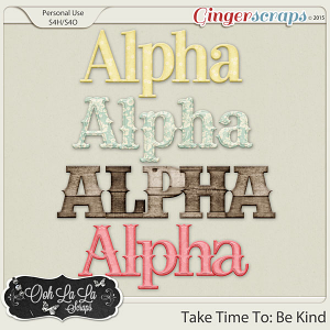 Take Time To Be Kind Alphabets