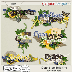 Don't Stop Believing - WordArt