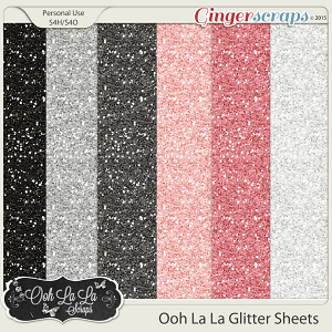 Ooh La La 12x12 Glitter Sheets