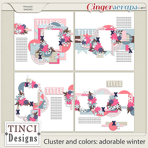 Cluster and colors: adorable winter