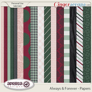 Always And Forever - Papers by Aprilisa Designs