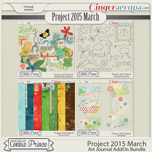 Project 2015 March - Art Journal Bundle