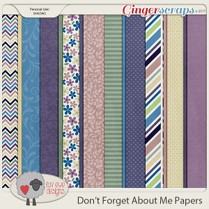 Don't Forget About Me Papers by Luv Ewe Designs