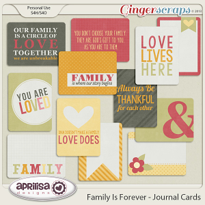 Family Is Forever Journal Cards by Aprilisa Designs