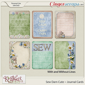Sew Darn Cute Journal Cards