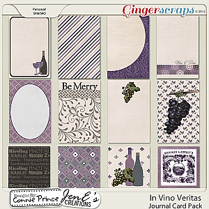 In Vino Veritas - Journal Cards
