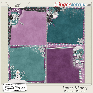 Frozen & Frosty - PreDeco Papers