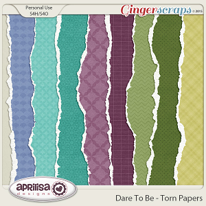 Dare To Be - Torn Papers
